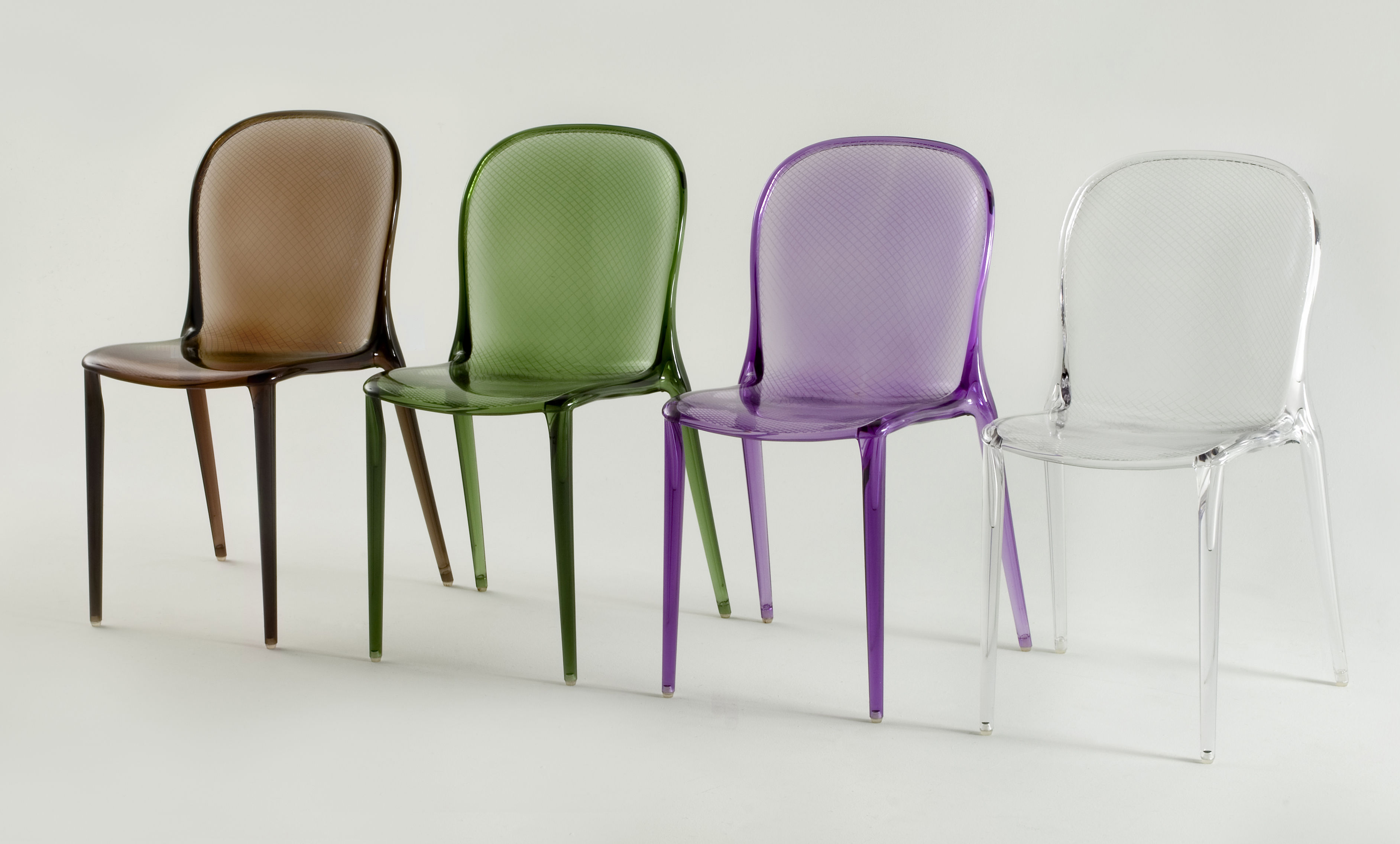 Chaise empilable thalya transparente polycarbonate cristal kartell - Chaise kartell transparente ...