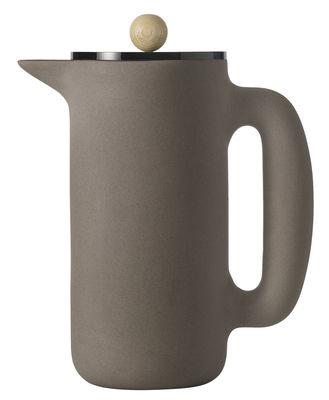 Cafetière à piston Push /1L - Muuto gris pierre en céramique