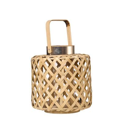 Lanterne Cross Strip Small Bambou Ø 26 x H 32 cm Pols Potten bambou naturel en bois