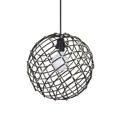 Sphere Medium Pendelleuchte / Bambus - Ø 32 cm - Forestier - Schwarz