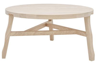 Tavolino basso Offcut / Legno - Ø 85 x H 42 cm - Tom Dixon - Legno chiaro - Legno