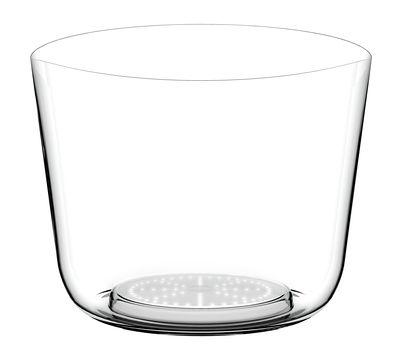 Seau à champagne lumineux Tonic Ice Bowl LED / Sans fil - 4 bouteilles - Italesse transparent en matière plastique