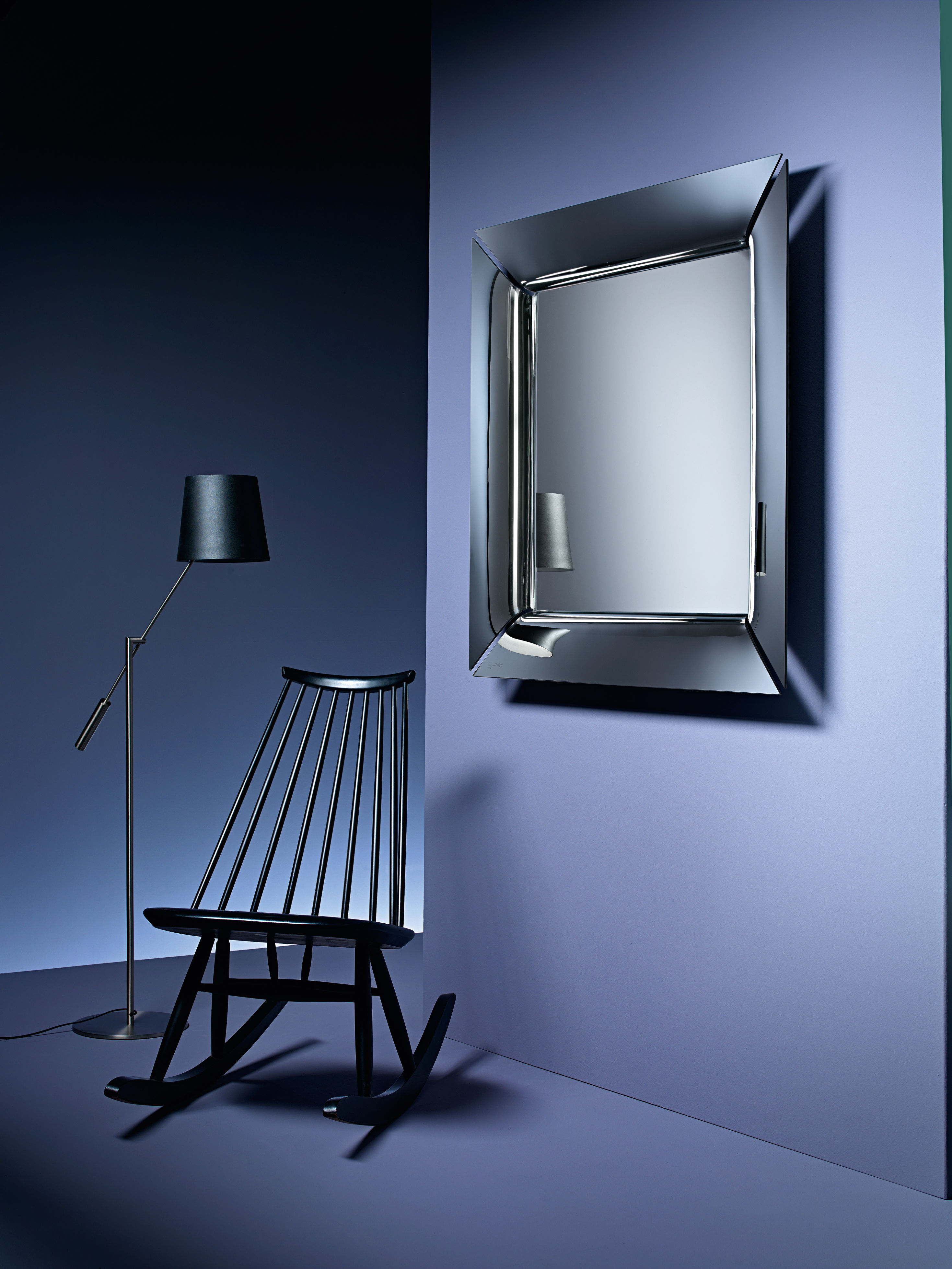 caadre mirror silver by fiam made in design uk. Black Bedroom Furniture Sets. Home Design Ideas