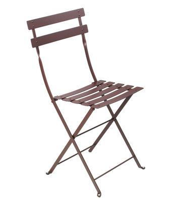 Chaise pliante Bistro Métal Fermob rouille en métal