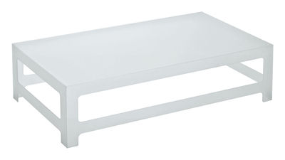 Table basse Nezu H 30 cm - 130 x 70 cm - Glas Italia blanc,opalin en verre