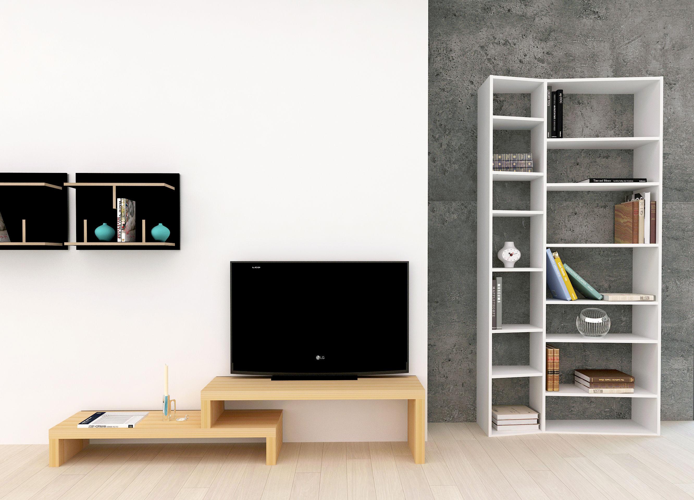 biblioth que new york 001 l 108 x h 224 cm blanc pop up home. Black Bedroom Furniture Sets. Home Design Ideas