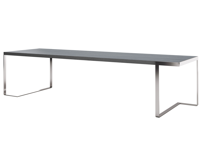 table tred 300 x 90 cm plateau en bois laqu couleur argent structure en acier chrom moroso. Black Bedroom Furniture Sets. Home Design Ideas