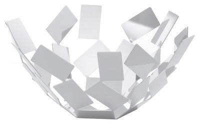 Corbeille La Stanza dello Scirocco / Ø 27 x H 13 cm - Alessi blanc en métal