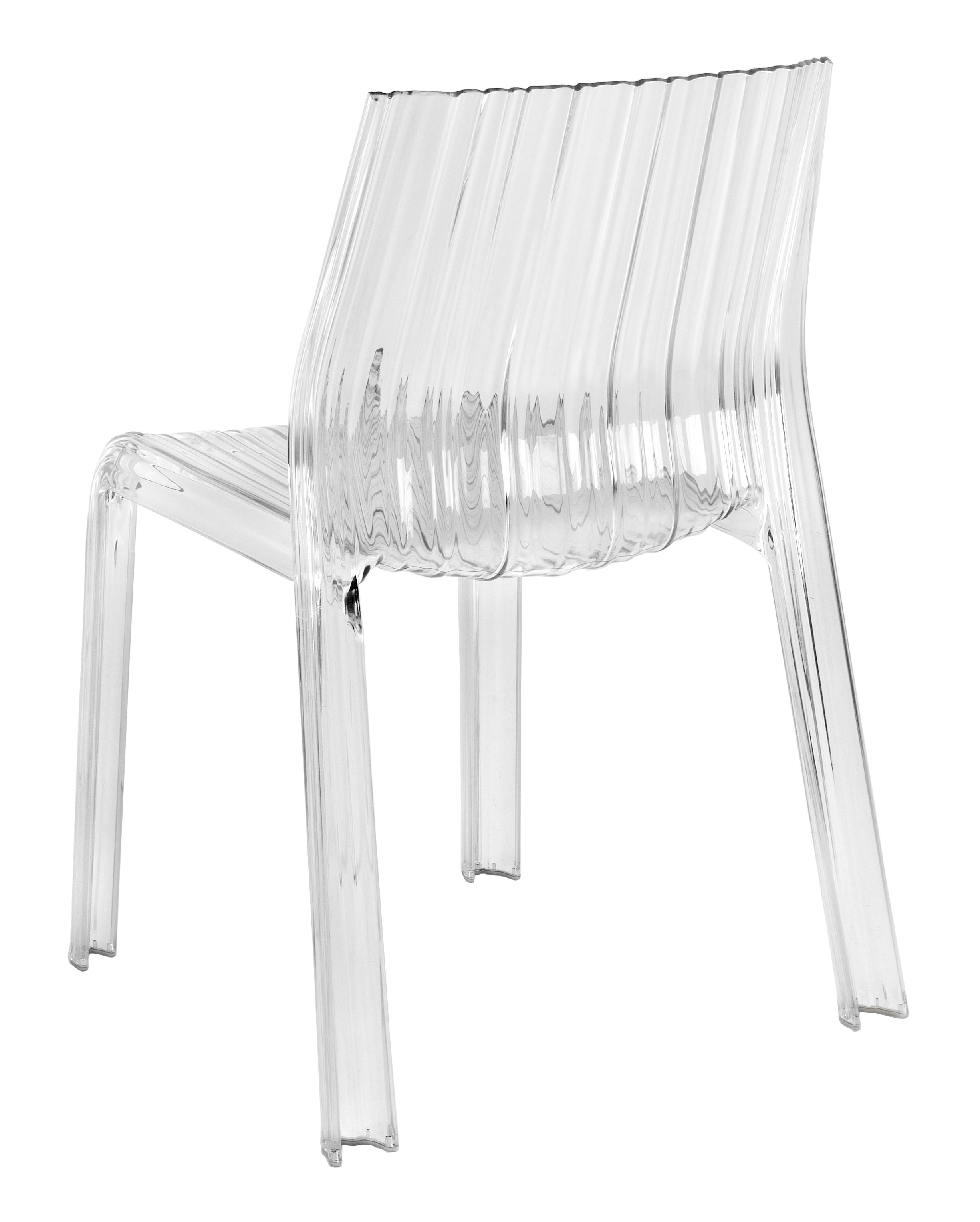 frilly stacking chair polycarbonate transparent blue by kartell. Black Bedroom Furniture Sets. Home Design Ideas