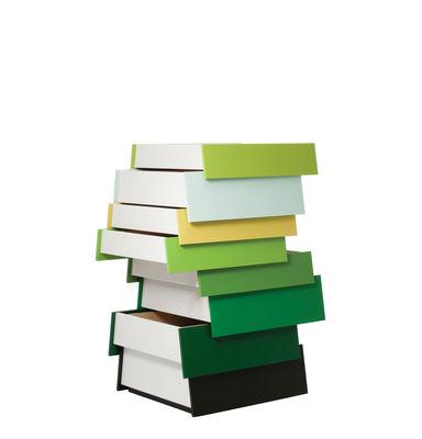 Commode Stack / 8 tiroirs - H 108 cm - Established & Sons vert en bois