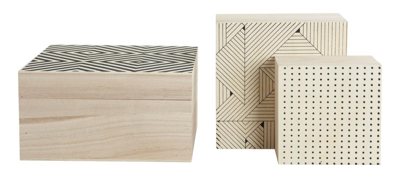 print holz 3er set house doctor schachtel. Black Bedroom Furniture Sets. Home Design Ideas