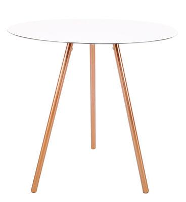 Tavolino basso Elle / H 50 cm - XL Boom - Bianco,Rame - Metallo