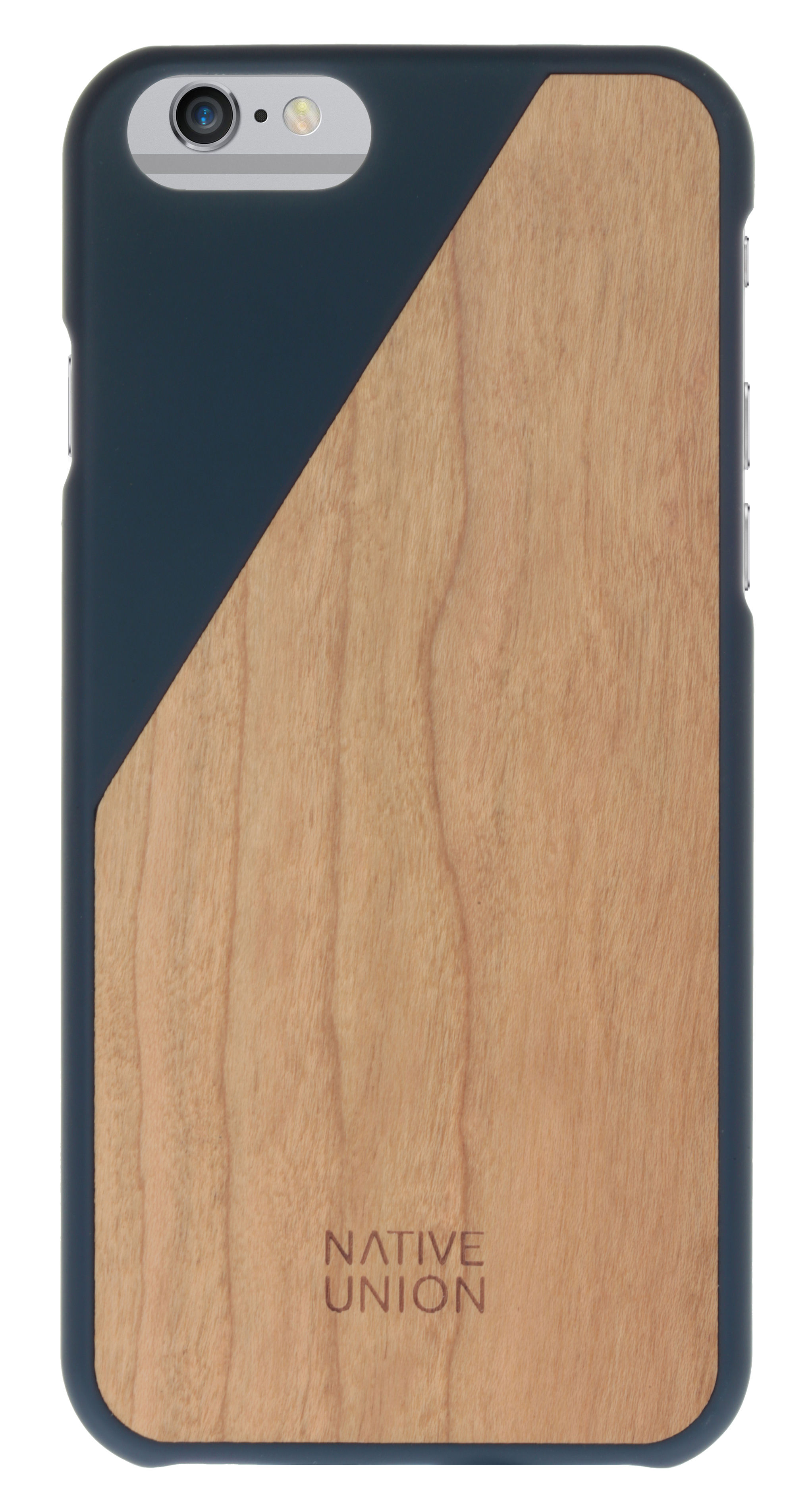 coque iphone 6 clic wood bois massif bleu cerisier. Black Bedroom Furniture Sets. Home Design Ideas