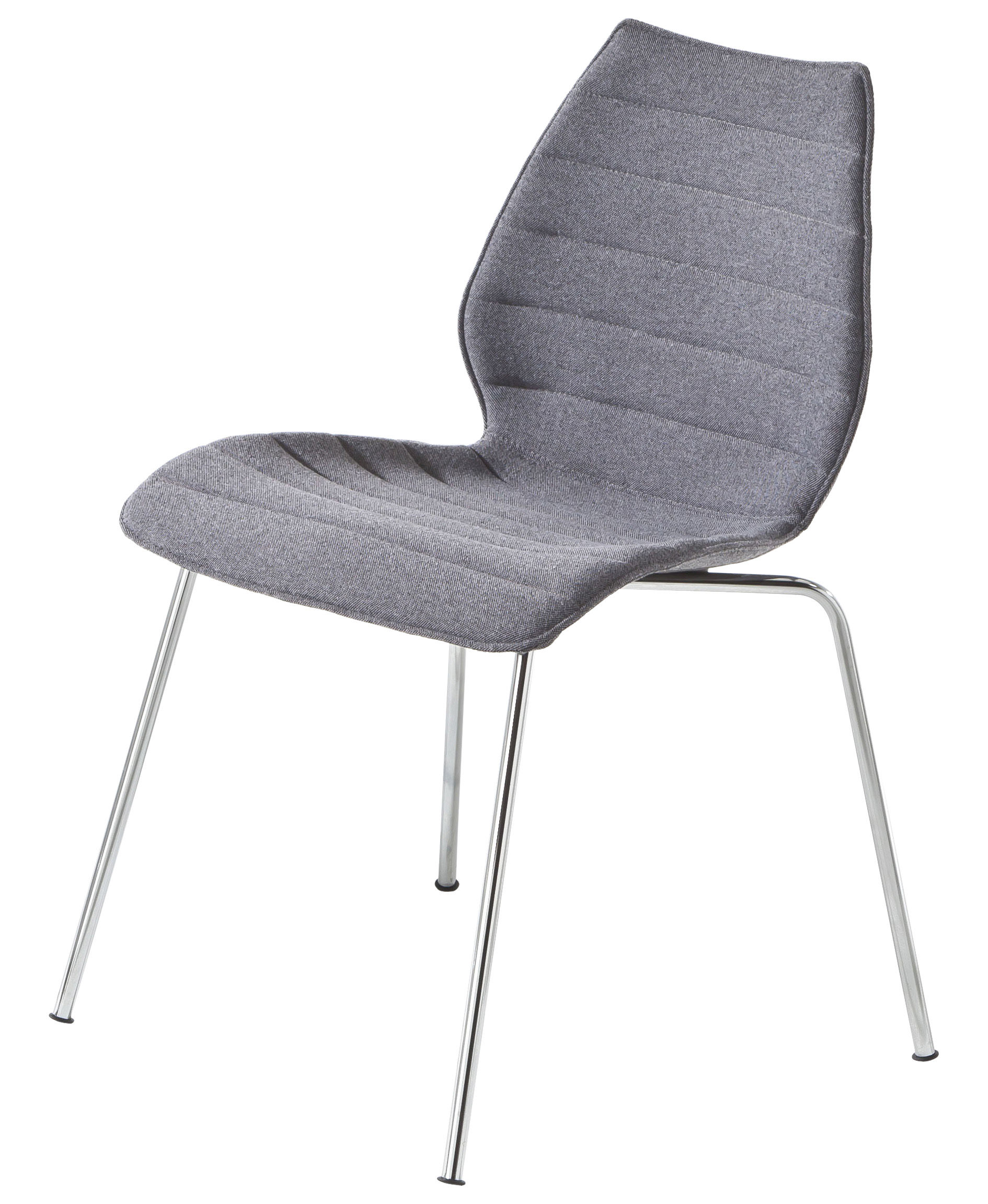 chaise rembourr e maui soft tissu trevira gris kartell. Black Bedroom Furniture Sets. Home Design Ideas