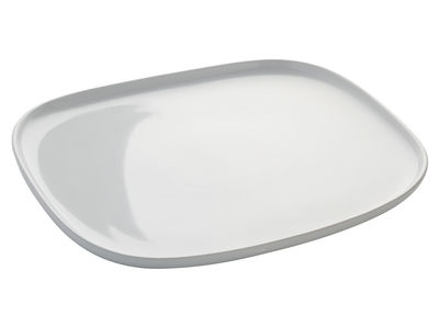 Tableware - Serving Plates - Ovale Serving dish by Alessi - White -  L 31,5 x W 28 cm - Stoneware ceramic