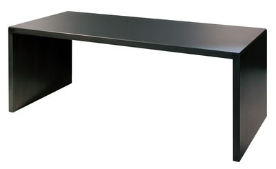 Table Big Irony Desk / Ovale - 200 x 90 cm - Zeus noir en métal