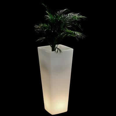 Mobilier - Mobilier lumineux - Pot de fleurs lumineux All so quiet Indoor H 110 cm - Pour l'intérieur - Qui est Paul ? - Blanc - Lumineux indoor - Polyéthylène rotomoulé