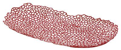 Arts de la table - Corbeilles, centres de table - Centre de table Opus / 60 x 34 cm - Alessi - Rouge - Acier peint
