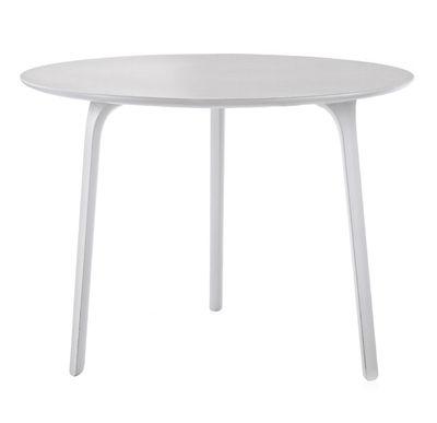 tavolo da giardino First - Ø 80 - Per l'interno & l'esterno di Magis - Bianco - Materiale plastico