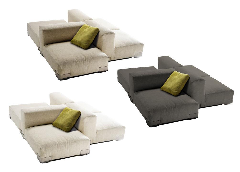 Scopri divano destro plastics duo composizione 7 grigio for Divani kartell outlet