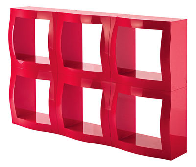 Furniture - Bookcases & Bookshelves - Boogie Woogie Shelf - Modular container by Magis - Red whitout back - ABS