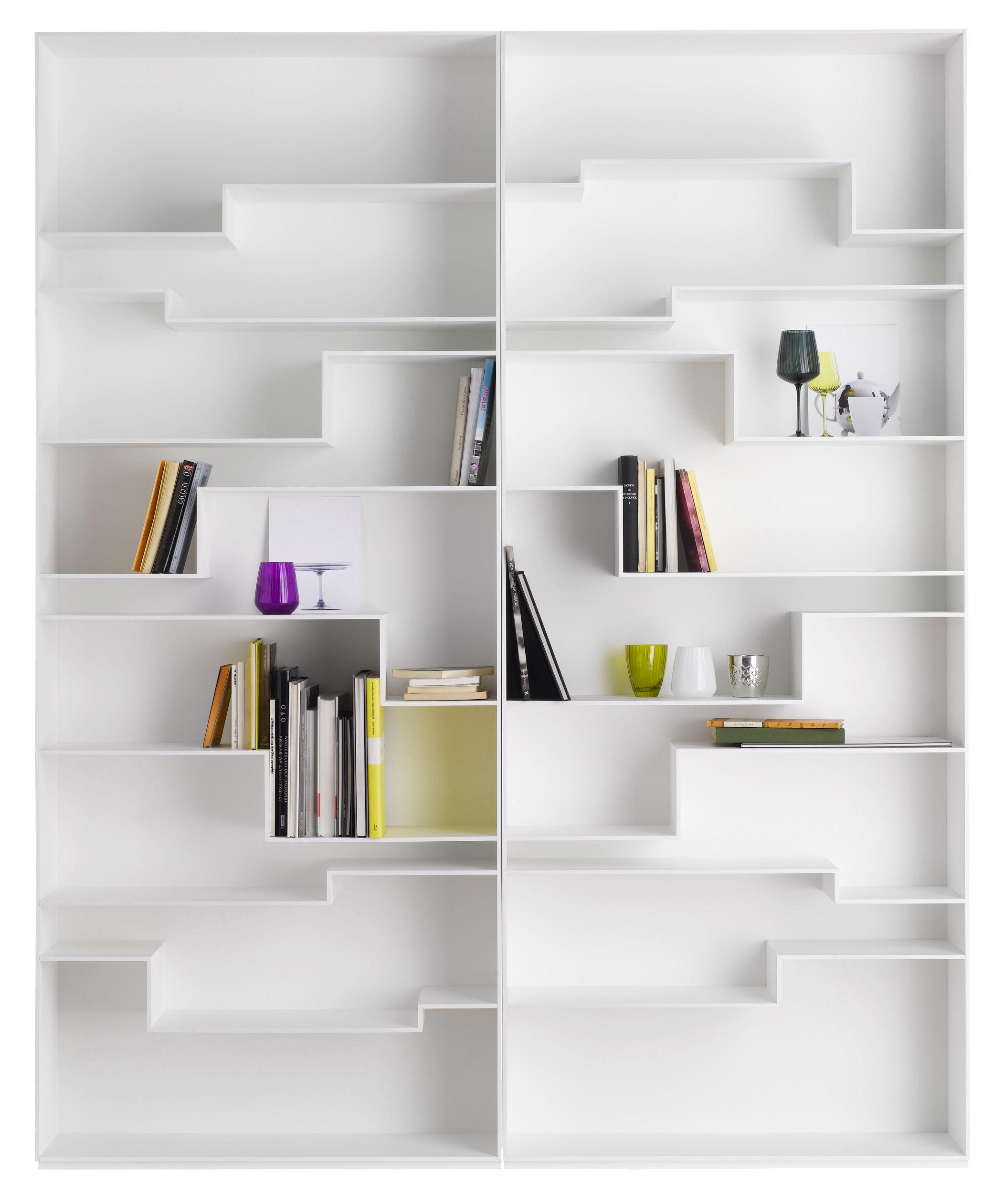 biblioth que melody blanc laqu mdf italia. Black Bedroom Furniture Sets. Home Design Ideas