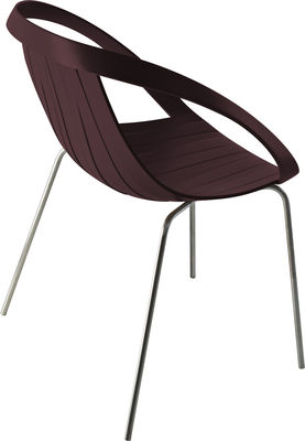 Impossible Wood Sessel / Kunststoff in Holzoptik & Stuhlbeine aus Metall - Moroso