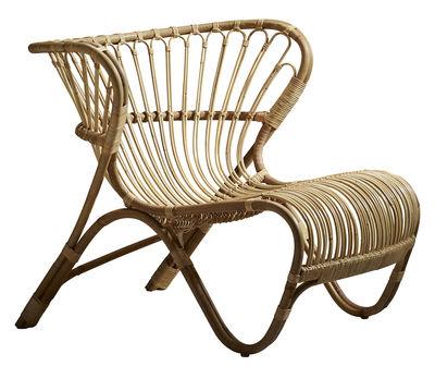 Mobilier - Fauteuils - Fauteuil Fox Lounge / Réédition 1936 - Sika Design - Naturel - Rotin
