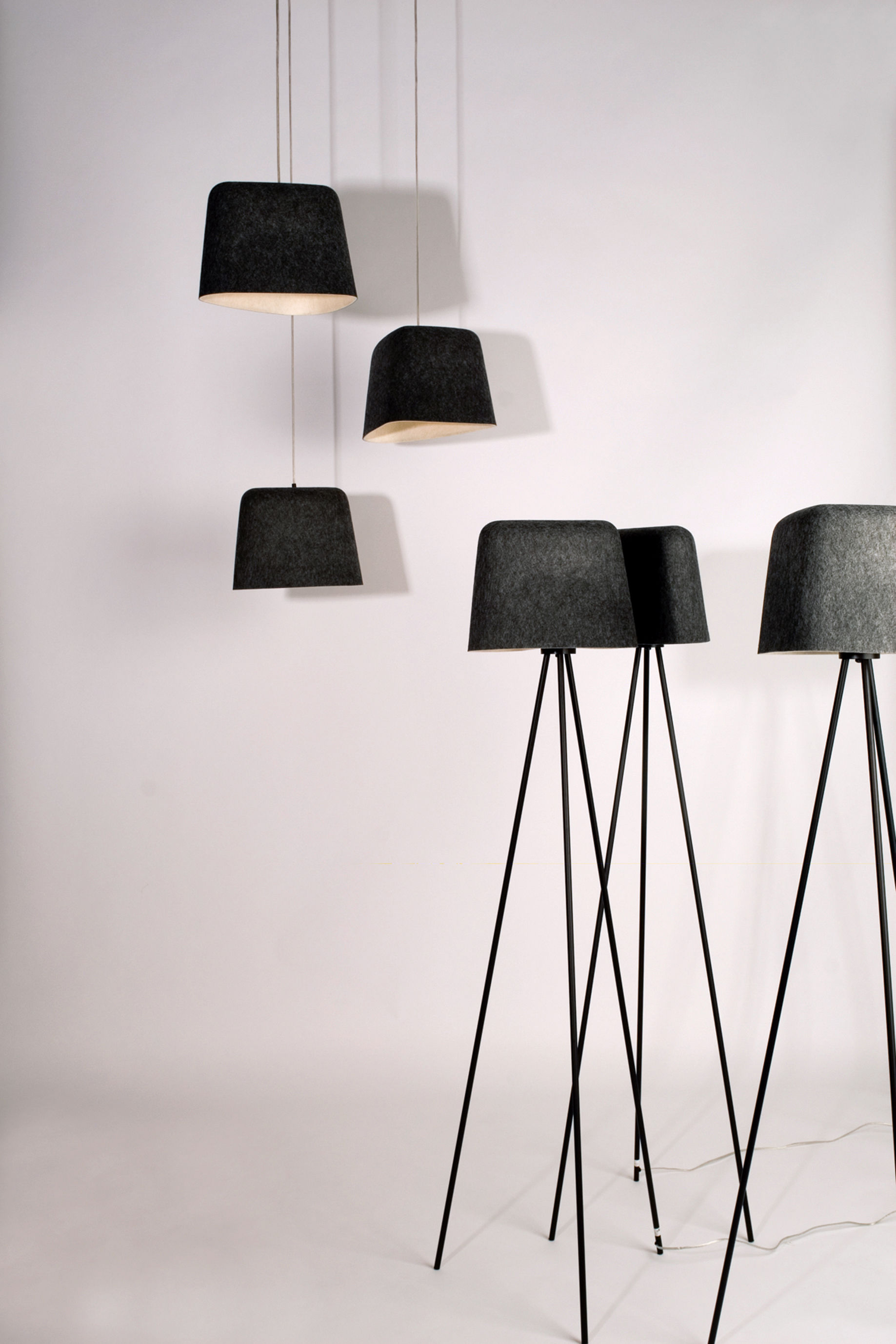 lampadaire felt shade gris tom dixon. Black Bedroom Furniture Sets. Home Design Ideas
