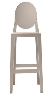 Chaise de bar One more / H 75cm - Plastique - Kartell sable en matière plastique