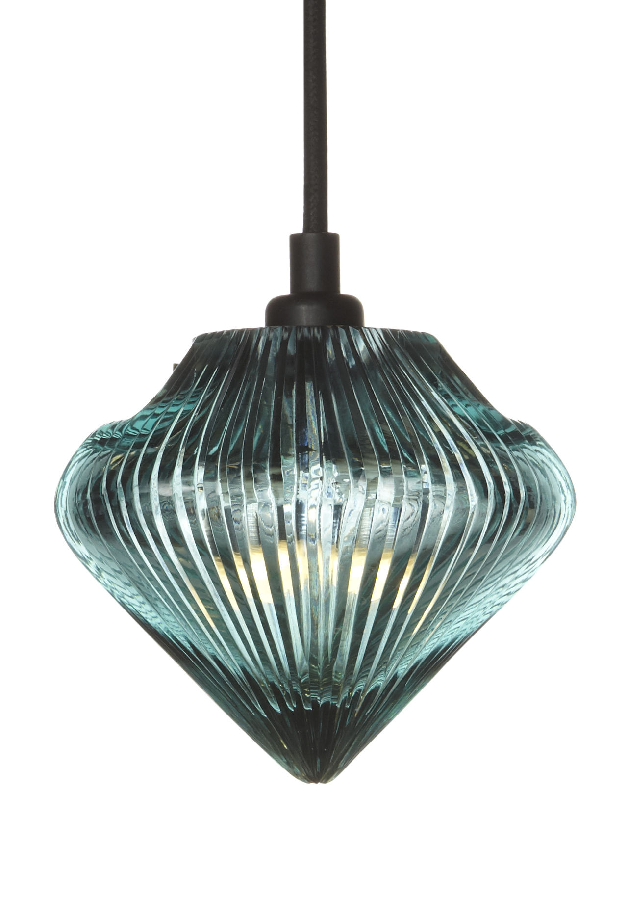 glass light top pendant transparent with blue reflects by tom dixon. Black Bedroom Furniture Sets. Home Design Ideas