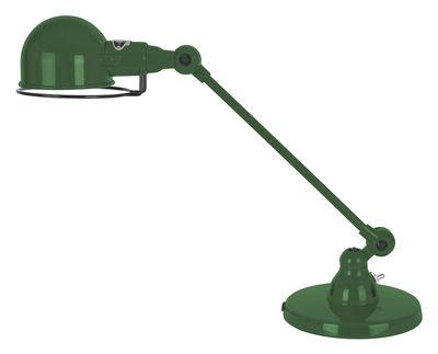 Foto Lampada da tavolo Signal - 1 braccio articolato - L 40 cm di Jieldé - Verde oliva brillante - Metallo