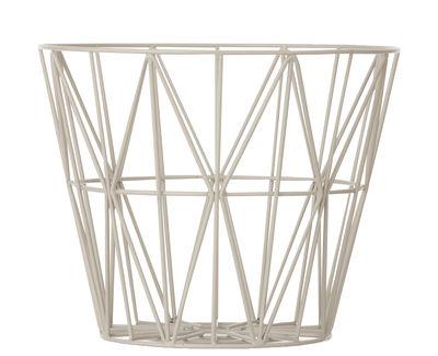 Foto Cesto Wire Small - / Ø 40 x H 35 cm di Ferm Living - Grigio - Metallo