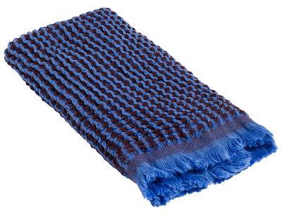 Serviette de toilette Waffle / 70 x 50 cm - Hay bleu en tissu