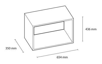 etag re stacked large rectangulaire 65x43 cm sans fond blanc muuto. Black Bedroom Furniture Sets. Home Design Ideas