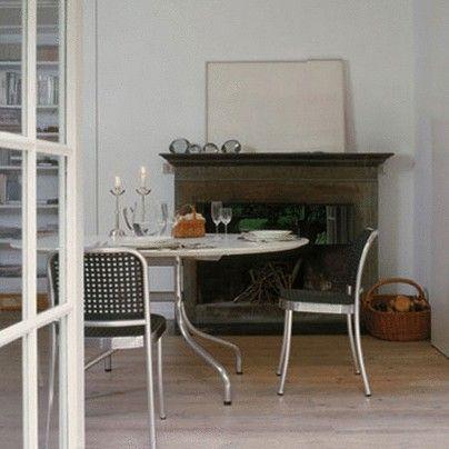 Silver Chair - Aluminium & plastic Shining alu/ Orange by De Padova
