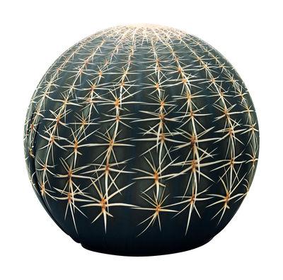 Mobilier - Mobilier Kids - Pouf Tattoo motif Cactus - Rond Ø 48,5 cm - Cerruti Baleri - Motif Cactus - Mousse de polyuréthane, Plastique, Tissu élastique