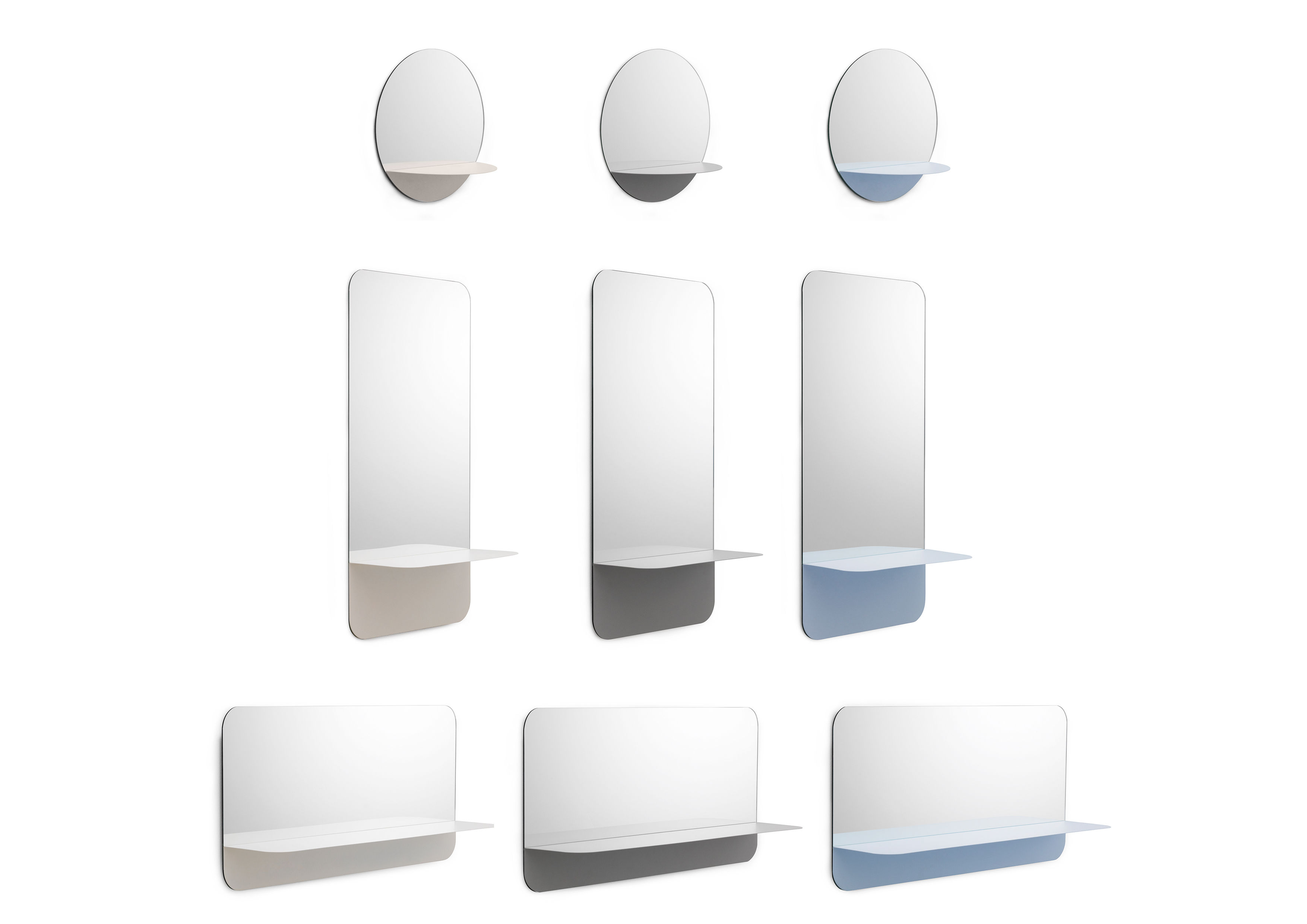 Miroir mural horizon vertical etag re l 40 x h 80 cm for Miroir mural vertical