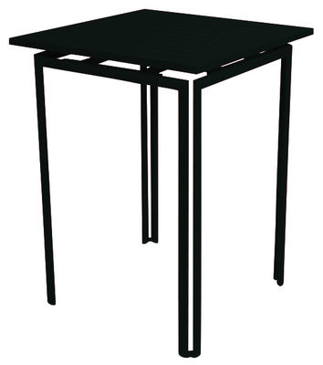 Mobilier - Mange-debout et bars - Mange-debout Costa / H 105 cm - Fermob - Réglisse - Aluminium