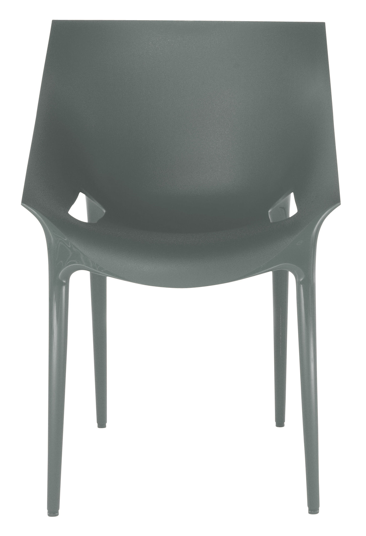Dr yes stackable armchair polypropylene grey by kartell - Chaise transparente kartell ...
