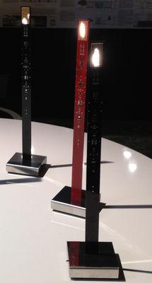 lampe my new flame h 40 cm bougie led version usb noir ingo maurer. Black Bedroom Furniture Sets. Home Design Ideas