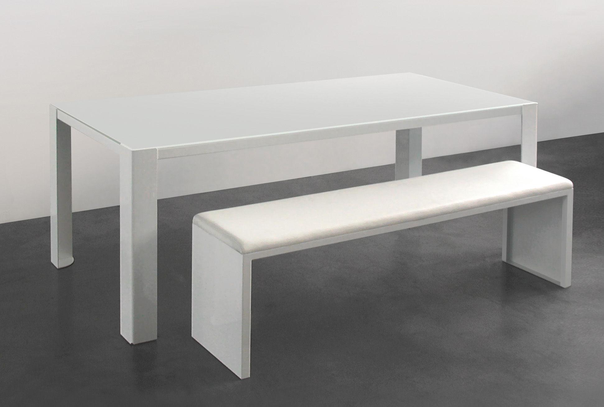 Big Irony White Glass Table White glass table top & white
