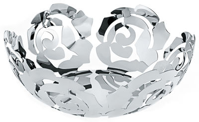 Accessories - Bathroom Accessories - La Rosa Basket by Alessi - Ø 29 cm - Mirror polished - Stainless steel