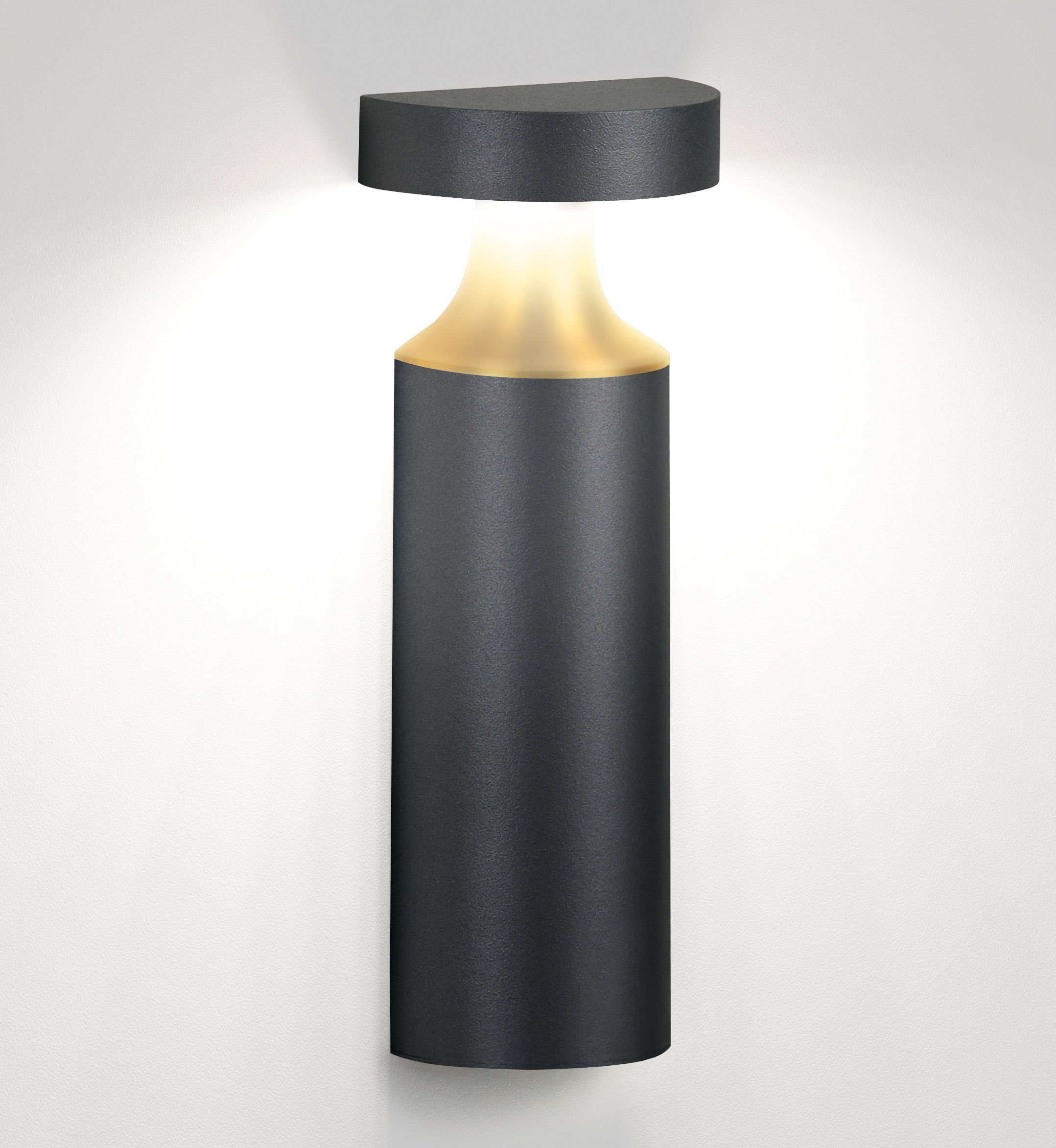 Bazil 60 LED Wall light Anthracite grey / gold by Delta Light