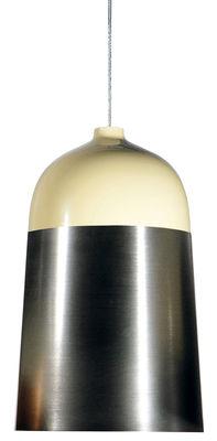 Luminaire - Suspensions - Suspension Glaze / Ø 32 x H 51 cm - Innermost - Crème / Aluminium - Aluminium