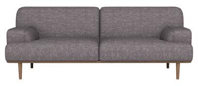 Divano destro Madison - Tessuto / 2½ posti - L 204 cm di Bolia - Grigio,Rovere - Tessuto