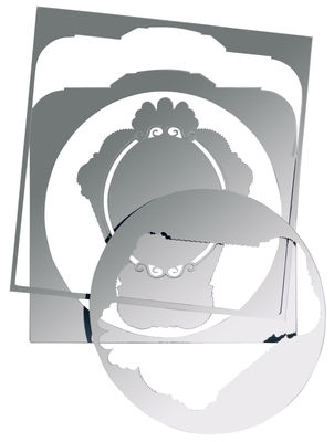 Furniture - Mirrors - 5 mirrors self-sticking mirror - Sticker by Domestic -  - Plastic material