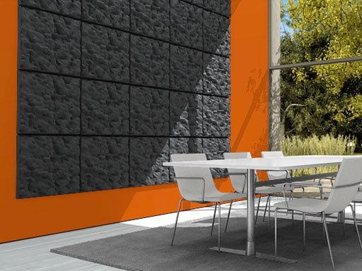 panneau acoustique mural soundwave scrunch gris anthracite. Black Bedroom Furniture Sets. Home Design Ideas