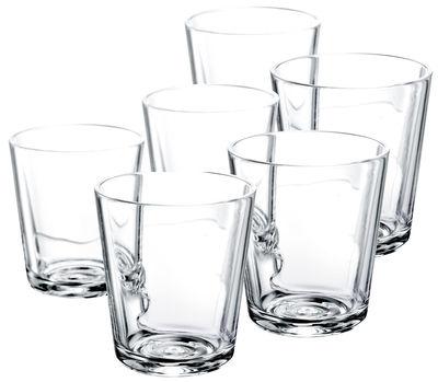 Verre eau lot de 6 25 cl transparent eva solo - Place du verre a eau sur une table ...