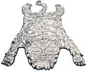 Tiger Teppich groß / 240 x 125...